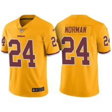 Light Up Thursday Night - Washington Redskins #24 Josh Norman Gold Color Rush Limited Jersey
