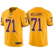 Light Up Thursday Night - Washington Redskins #71 Trent Williams Gold Color Rush Limited Jersey