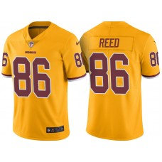 Light Up Thursday Night - Washington Redskins #86 Jordan Reed Gold Color Rush Limited Jersey