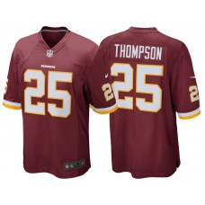 Youth Washington Redskins #25 Chris Thompson Burgundy Game Jersey