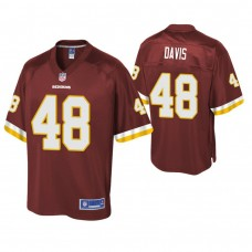 Youth Washington Redskins #48 Vontae Davis Burgundy Player Pro Line Jersey