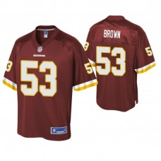 Youth Washington Redskins #53 Zach Brown Burgundy Player Pro Line Jersey