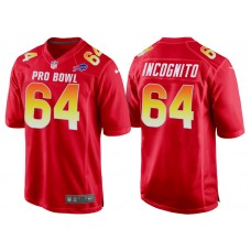 2018 Pro Bowl AFC Buffalo Bills #64 Richie Incognito Red Game Jersey