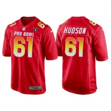2018 Pro Bowl AFC Oakland Raiders #61 Rodney Hudson Red Game Jersey