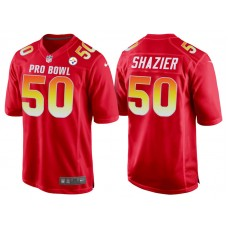 2018 Pro Bowl AFC Pittsburgh Steelers #50 Ryan Shazier Red Game Jersey