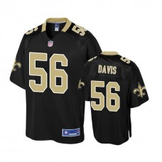 Youth New Orleans Saints #56 Demario Davis Black Player Jersey