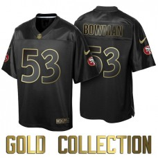 San Francisco 49ers #53 NaVorro Bowman Super Bowl 50th Black Gold Collection Jersey