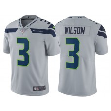 2017 Seattle Seahawks #3 Russell Wilson Gray Vapor Untouchable Limited Jersey