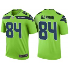 Seattle Seahawks #84 Amara Darboh Neon Green Color Rush Legend Jersey