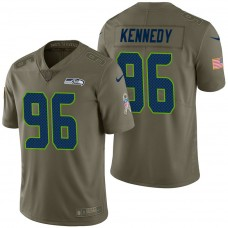 Seattle Seahawks #96 Cortez Kennedy Olive 2017 Salute to Service Limited Jersey