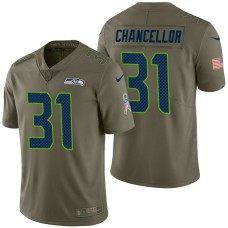 Seattle Seahawks #31 Kam Chancellor Olive 2017 Salute to Service Limited Jersey