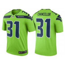 Seattle Seahawks #31 Kam Chancellor Green Color Rush Legend Jersey