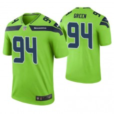 Seattle Seahawks #94 Rasheem Green Green Color Rush Legend Jersey