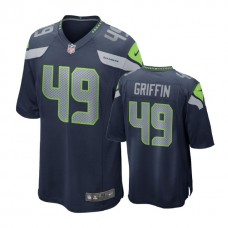 Seattle Seahawks #49 Shaquem Griffin Navy 2018 Draft Pick Game Jersey