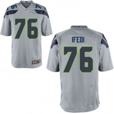 Seattle Seahawks #76 Germain Ifedi Gray Game Jersey