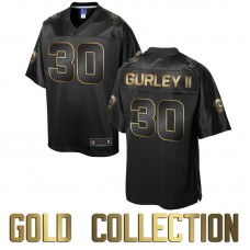 St. Louis Rams #30 Todd Gurley II Super Bowl 50 Black Gold Collection Jersey ( Pre-order )