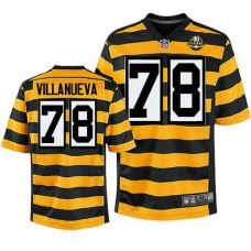 Pittsburgh Steelers #78 Alejandro Villanueva Yellow 80th Anniversary Jersey