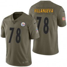 Pittsburgh Steelers #78 Alejandro Villanueva Olive 2017 Salute to Service Limited Jersey