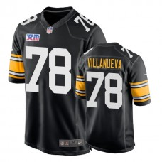 Pittsburgh Steelers #78 Alejandro Villanueva 1978 Throwback Super Bowl XIII Black Jersey