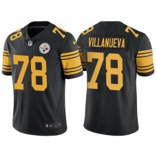 Pittsburgh Steelers #78 Alejandro Villanueva Black Vapor Untouchable Color Rush Limited Jersey