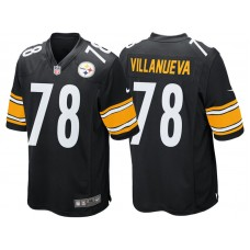 Pittsburgh Steelers #78 Alejandro Villanueva Black Game Jersey
