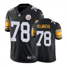 Pittsburgh Steelers #78 Alejandro Villanueva Vapor Untouchable Limited Throwback Black Jersey