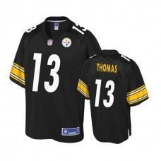 Youth Pittsburgh Steelers #13 Justin Thomas Balck Player Pro Line Jersey