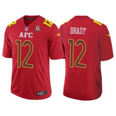 2017 Pro Bowl AFC Tom Brady Red Game Jersey