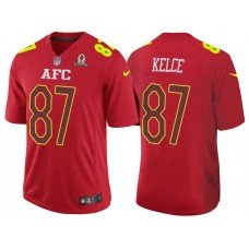 2017 Pro Bowl AFC Travis Kelce Red Game Jersey
