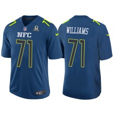 2017 Pro Bowl NFC Trent Williams Blue Game Jersey
