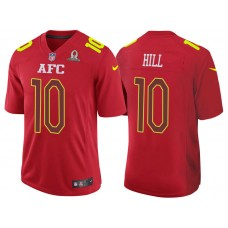 2017 Pro Bowl AFC Tyreek Hill Red Game Jersey