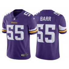 2017 Minnesota Vikings #55 Anthony Barr Purple Vapor Untouchable Limited Jersey