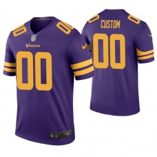Minnesota Vikings Purple Color Rush Legend Customized Jersey