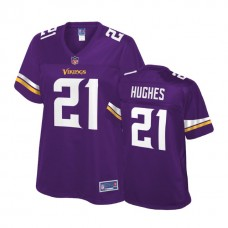 Women's Minnesota Vikings #21 Mike Hughes Purple Player Pro Line Jersey
