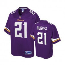 Youth Minnesota Vikings #21 Mike Hughes Purple Player Pro Line Jersey