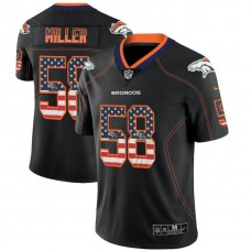 Denver Broncos #58 Von Miller Black 2018 USA Flag Fashion Color Rush Limited Jersey