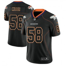 Denver Broncos #58 Von Miller 2018 Lights Out Color Rush Limited Black Jersey