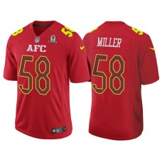 2017 Pro Bowl AFC Von Miller Red Game Jersey