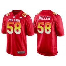 2018 Pro Bowl AFC Denver Broncos #58 Von Miller Red Game Jersey