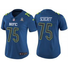 Women's NFC 2017 Pro Bowl Washington Redskins #75 Brandon Scherff Blue Game Jersey
