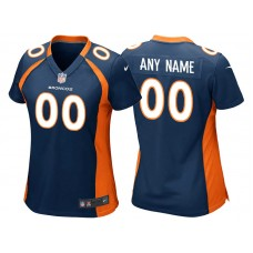 Women's Denver Broncos Navy Blue Game Customized Jersey