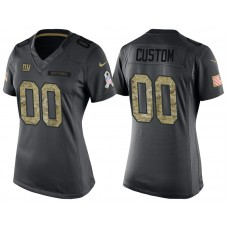 Women's New York Giants Anthracite Camo 2016 Salute to Service Veterans Day Customized Jersey