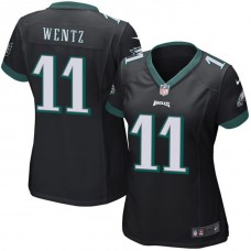 Women's Philadelphia Eagles #11 Carson Wentz Black Game Jersey