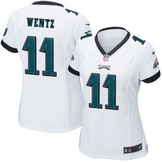 Women's Philadelphia Eagles #11 Carson Wentz White Game Jersey