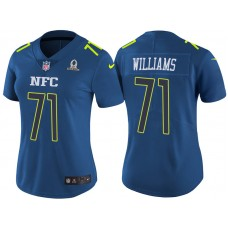 Women's NFC 2017 Pro Bowl Washington Redskins #71 Trent Williams Blue Game Jersey