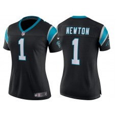 Women's Carolina Panthers #1 Cam Newton Black Classic Limited Player Jersey