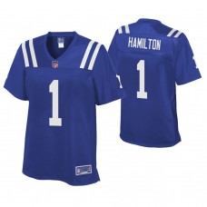 Women's Indianapolis Colts #1 Cobi Hamilton Royal Player Pro Line Jersey
