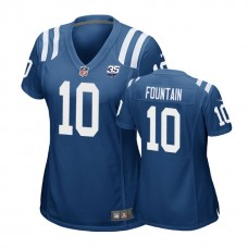 Women's Indianapolis Colts #10 Daurice Fountain 35th Anniversary Game Royal Jersey