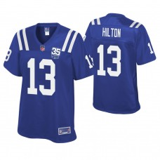 Women's Indianapolis Colts #13 T. Y. Hilton Royal 35th Anniversary Game Jersey