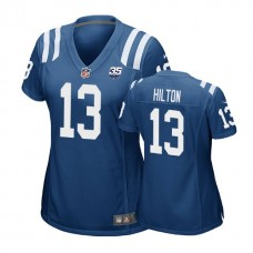 Women's Indianapolis Colts #13 T. Y. Hilton 35th Anniversary Game Royal Jersey
